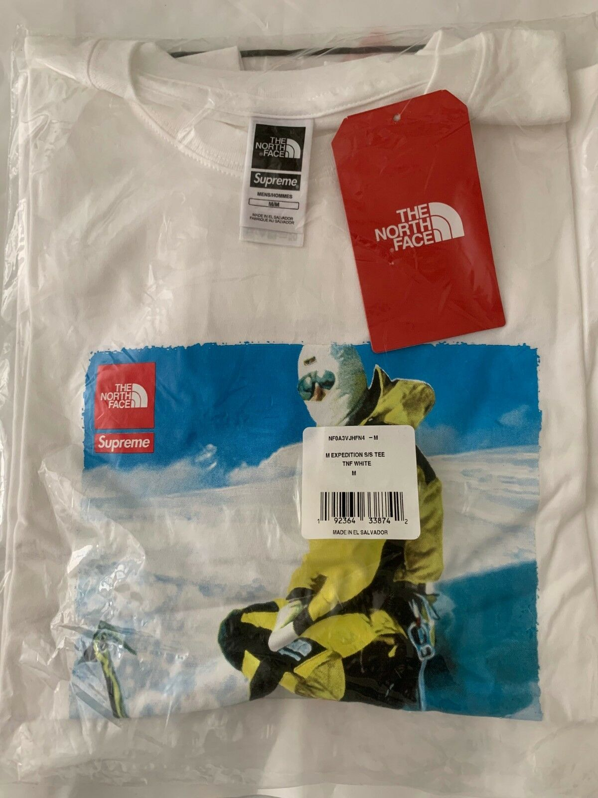 Supreme x North Face Photo T-Shirt (Weiß) - Medium In Hand