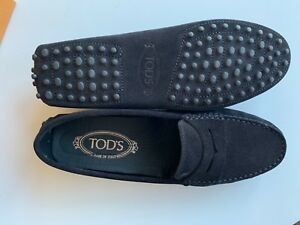 2ac28dc7462 Tods Gommino Driving Shoes in Black Suede Driver loafer Nero flats ...