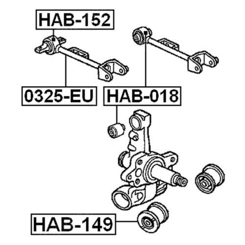 2 Quality REAR CONTROL ARM BUSHING FOR HONDA CIVIC CR-V 2001-2006 52390-SMA-J00