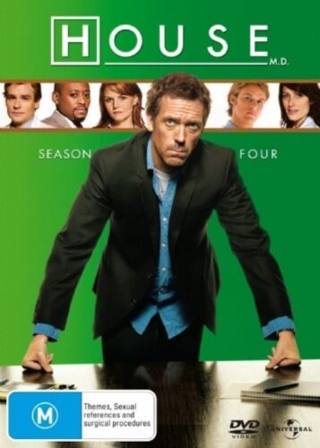 1 of 1 - House, M.D. : Season 4 (DVD, 2008, 4-Disc Set) Hugh Laurie
