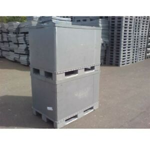 Image Is Loading PLASTIC STORAGE PALLET BOX CONTAINER 500KG CAPACITY SET