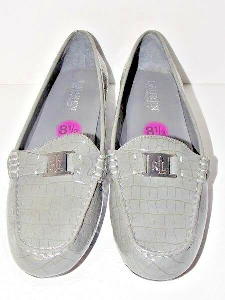 Lauren Ralph Lauren Grey Cariegh Slip-on Ladies Loafers Size 8.5B US