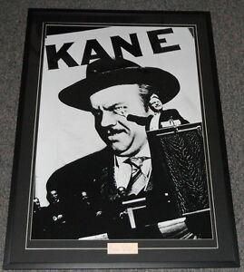 Orson-Welles-Signed-Framed-30x40-Citizen-Kane-Poster-Display-JSA