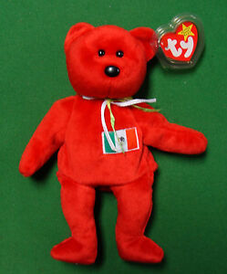 Osito  the Mexican Bear TY Beanie Baby - original NO number on tush ... 6c58c67aaf7