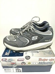 Skechers-Shape-Ups-52004-Men-039-s-Sz-8-5-Toning-Walking-Shoes-Navy-Silver
