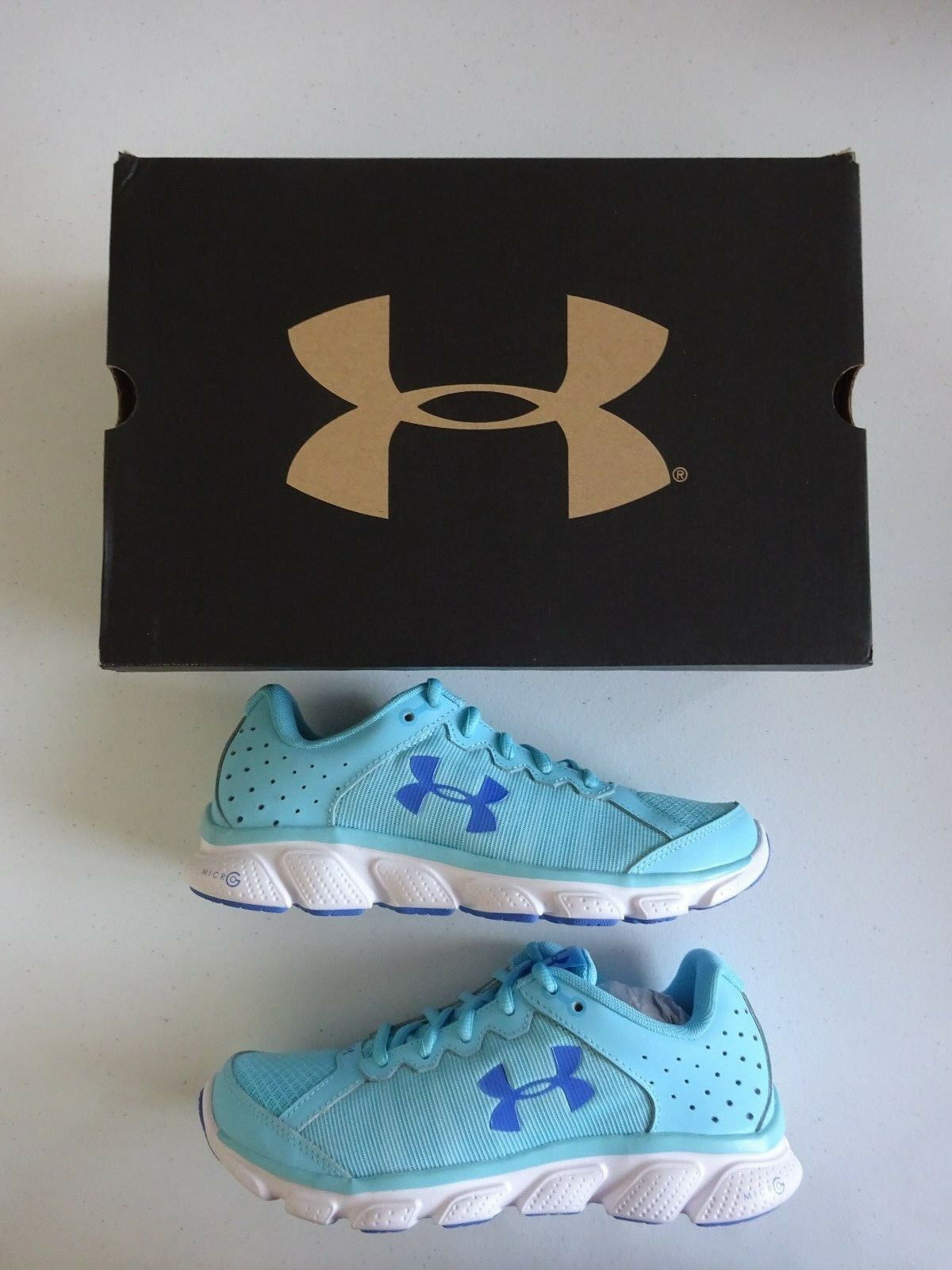 Under Armour Women's Micro G Assert 6 Running Shoes Venetian Blue/White NWT