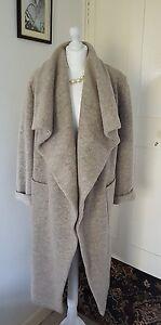 voor Very Wool Bnwt Taupe Jas 10 90 lange Rrp £ Waterfall van Size 8 jas wpAAIqf8