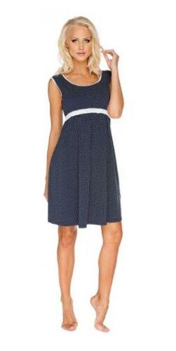 Maternità Allattamento Al Seno Lounge Pregnancy Camicia da notte Sleepwear Blu Grigio Taglia S-L