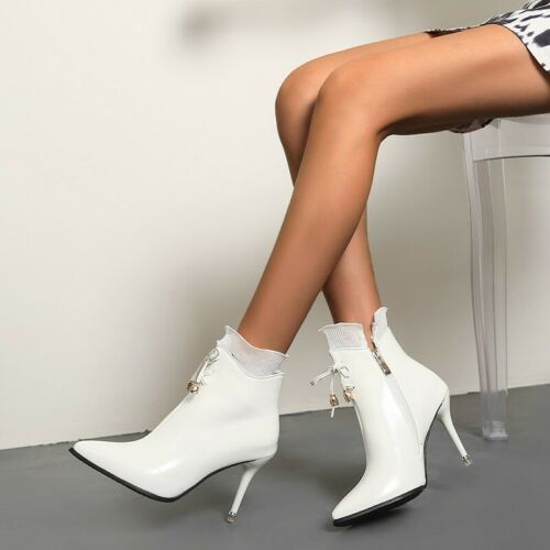 Details about  /Fashion Pointy Toe Stilettos High Heel Zip Up Women Party Pumps Outdoor Shoes D
