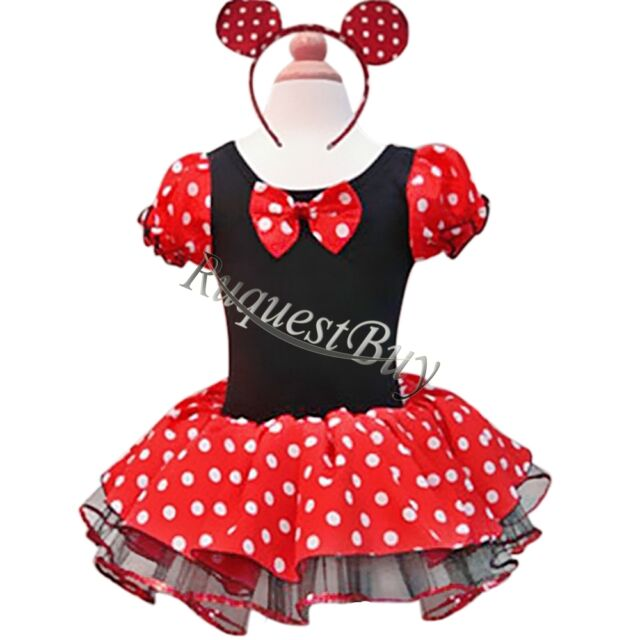 MINNIE MOUSE Girls Kid Birthday Party Costume Ballet Tutu Fancy Dress Up Cosplay