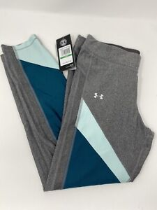 Under-Armour-Color-Block-Ankle-Crop-Tights-Women-Large-Heat-Gear-1305967-020-New