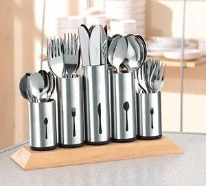 Stainless Steel Kitchen Cutlery Stand Holder Organiser Storage
