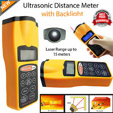 Digital Laser Distance Meter Ultrasonic Range Finder Measure Tape Diastimeter UK