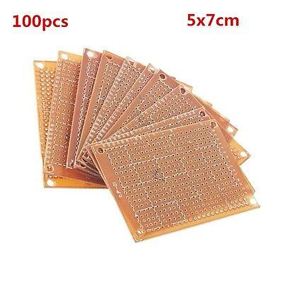 100pcs 5*7CM Prototype Paper PCB for DIY 5x7cm Circuit Board BREADBOARD