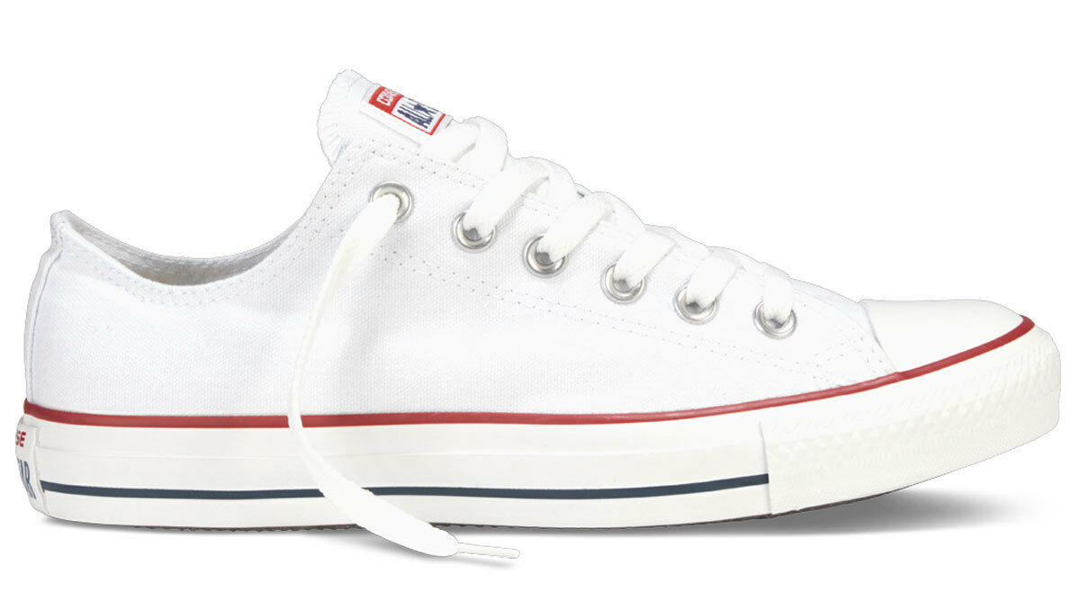 Mens Womens Branded Converse All Star Optical White M7652C Low Tops Trainers