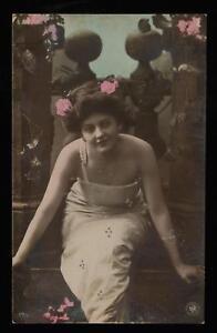 1904-ORANOTYPIE-PHOTO-BEAUTIFUL-SEXY-WOMAN-POSTCARD-UNUSED-ORANOTYPE-PC