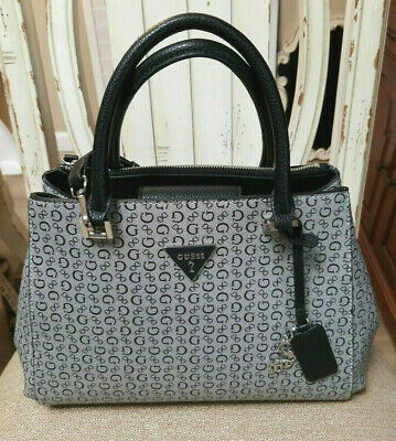 Guess Gray Black Signature Fx Leather