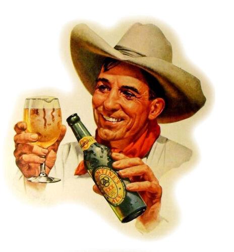 """Waterslide Decals FLONZ 412-0318 Vintage Man Cowboy Portrait 4pcs 2.5/""""x3.5/"""""""