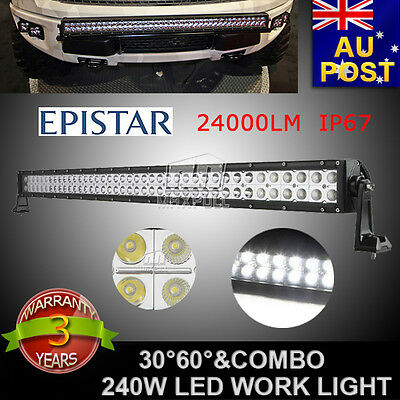 42INCH 240W LED WORK LIGHT BAR SPOT FLOOD COMBO OFFROAD ATV 4x4WD SUV TRUCK 120W