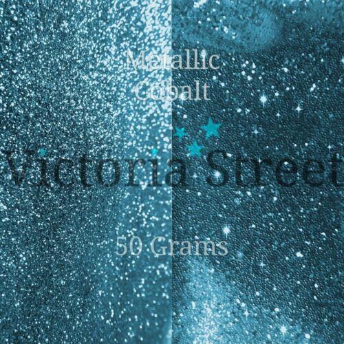 "Turquesa Verde Azulado Victoria Street Brillo Metálico Cobalto-Fino 0.008/""//0.2 mm"