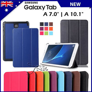 sports shoes 9ac17 52e74 Details about Folio Smart Leather Stand Case Cover for Samsung Galaxy Tab  A6 7.0   Tab A 10.1