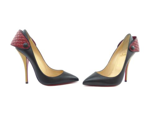 Christian 8 Huguetta Kid Louboutin 5Eu Uk Pump Pelle ~ 38 Black Us 120 R5jA4L