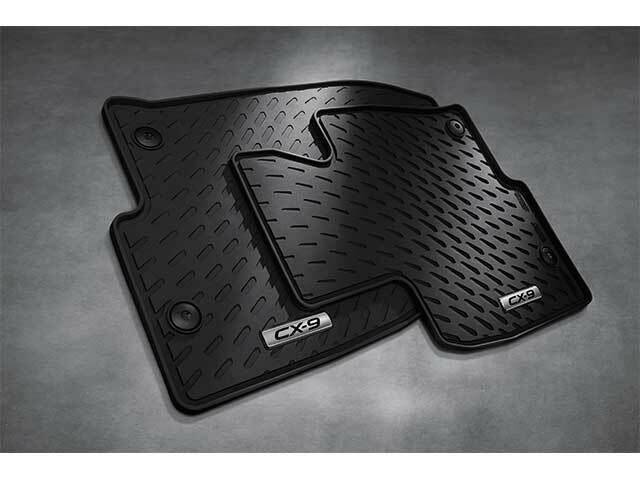 Black Carpeted Floor Mats for the 2nd and 3rd row Mazda CX-9 Rear Set 4 Pieces