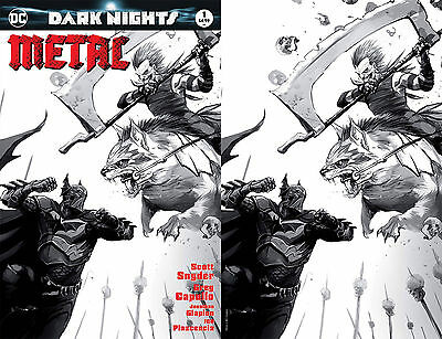 DARK NIGHTS METAL 1 FRANCESCO MATTINA B/&W SKETCH /& VIRGIN VARIANT 2 PACK SET NM