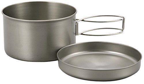CAPTAIN STAG M-9080 Titanium Mount Cooker 2 (Pot & Dish) Set Outdoor Goods NEW