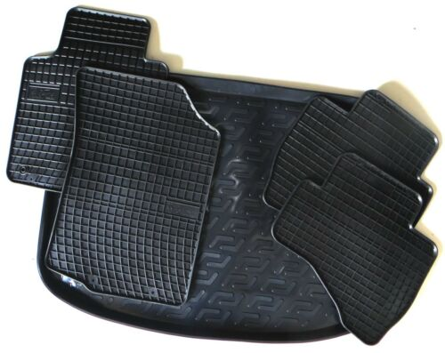 Gummifußmatten Kofferraumwanne Fußmatten Set TN Ford Mondeo IV Turnier 2007-2014