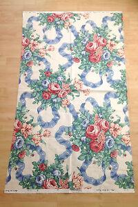 Vintage-Sanderson-Fabric-Remnant-Chinz-Queensbury-Rose-034-140cm-x-85cm