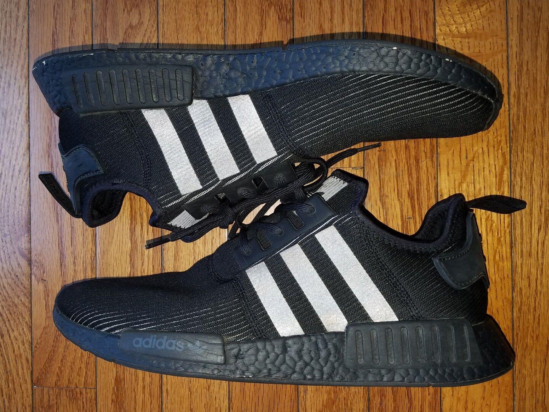 Adidas NMD R1 Triple Nero Reflective Boost PK Uomo Size 13 BY3123
