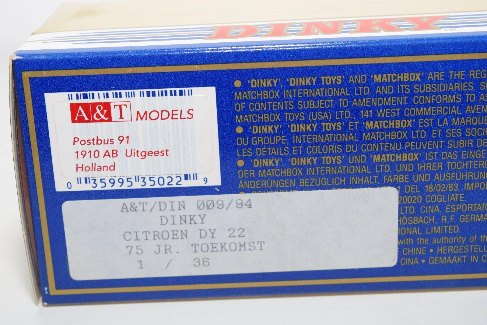 DINKY MATCHBOX DY-22 CITROEN 15 CV CV CV 75 JAAR TOEKOMST NEDERLAND MINT BOXED 06832e