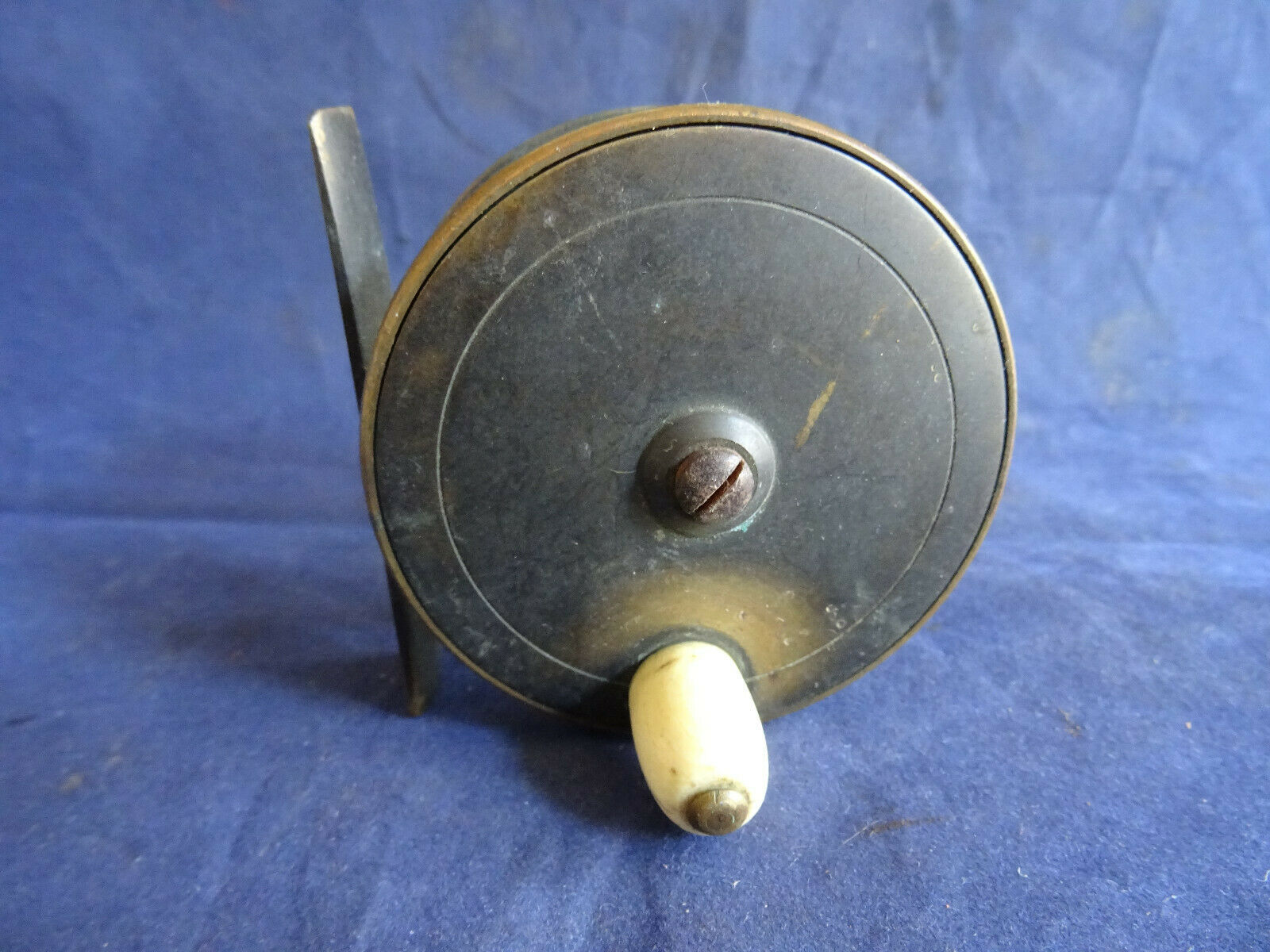 Fine tarde Victoriano Vintage Latón Chas Farlow & Co 191 Strand 2 3 4  Fly Reel