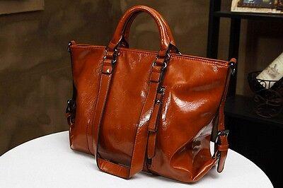 Ladies Vintage PU Leather Large Fashion Handbags Shoulder Shopper Bags Tote Hot