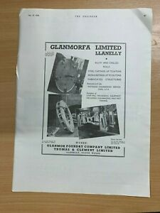 1954-Glanmorfa-Limitee-Llanelly-Enorme-Vintage-Annonce-35cm-x-25cm