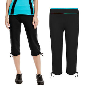 4160738ee6 Image is loading EX-FAMOUS-STORESWOMENS-CROPPED-GYM-PANTS-SPORTS-LEGGINGS-