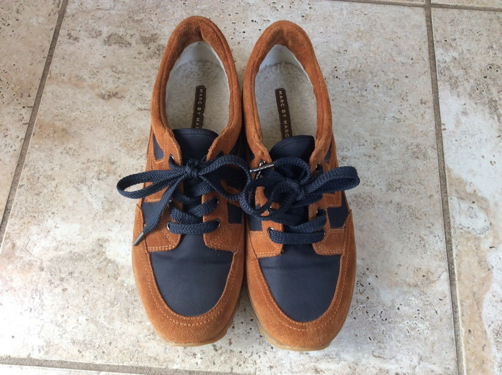 EUC Women's Marc By Marc Jacobs bluee And Brown Sneakers Size 38
