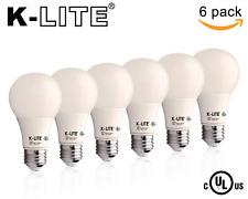 Six Pack K-LITE Led Light Bulbs, 760Lumens 9w E26 A19 Non-Dim, 15000HR Bulb Life