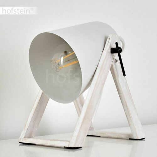 moderne Wohn Schlaf Zimmer Lampen verstellbar Holz weiß Nacht Tisch Beleuchtung