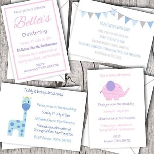 baptism invitations personalised christening naming day boy