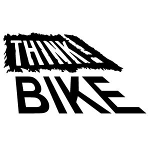 Think Bike Black Car Van Caution Bumper Window Jdm Vinyl Decal