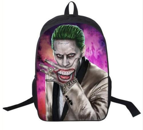 New Harley Quinn Joker Vegeta Son Girls Boys School Backpack Kids Gift Book Bag