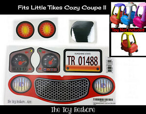 New-Replacement-Decals-Stickers-for-Little-Tikes-Tykes-Cozy-Coupe-II-Ride-On-Car