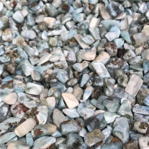 6-12mm Natural Larimar Pectolite Cabochon Gemstone Lot tumbled 1//2lb bulk stones