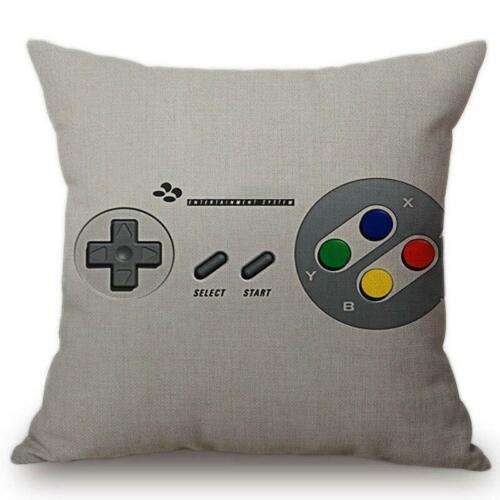 amera Print Sofa Decorative  Vintage Games Controller Cushion Cover  Pillow Case