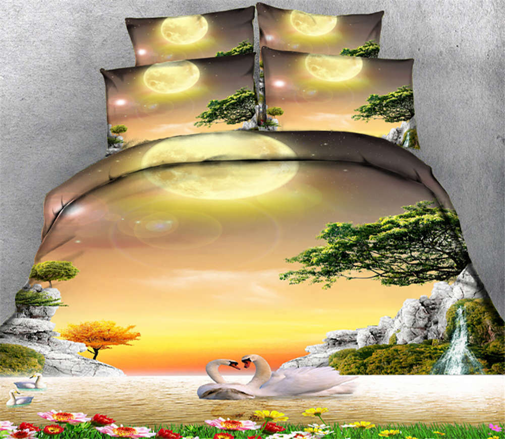 Month Circle Day 3D Printing Duvet Quilt Doona Covers Pillow Case Bedding Sets