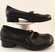 WOMEN'S MARY JANE STYLE SHOE BY EARTH SHOE US SIZE 8.5M;EUR40.5 BLACK LEATHER UP