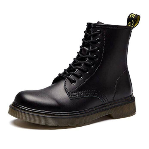 Women/'s Genuine Leather Fashion Boots Black /& Brown