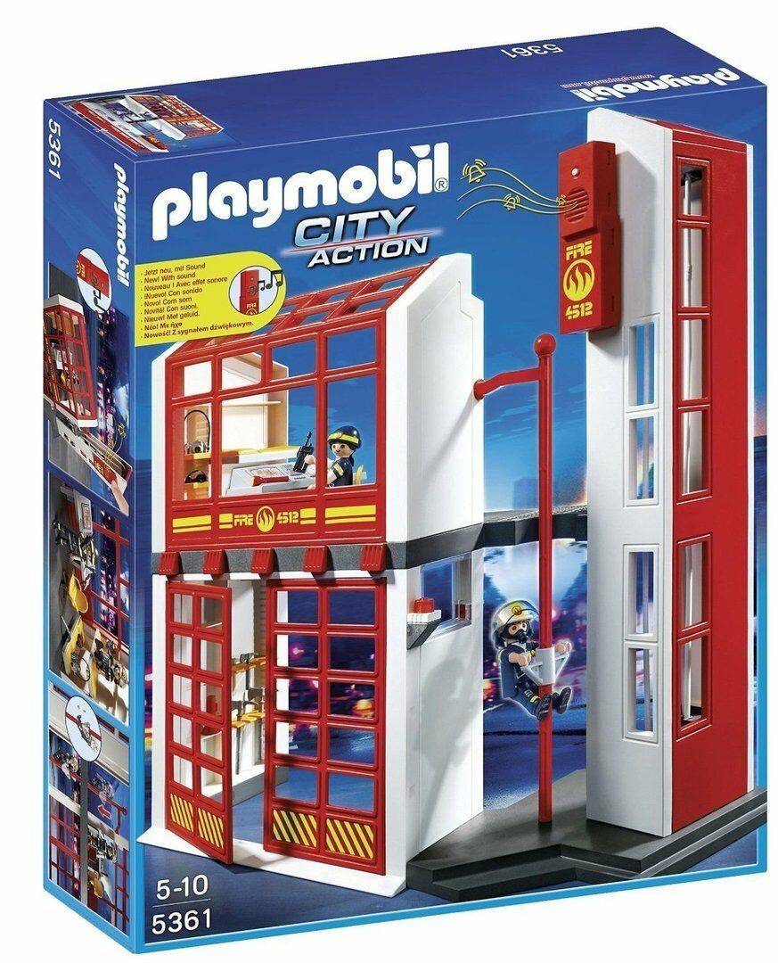 Playmobil 9225 - Estación de Bomberos con Alarma - NUEVO